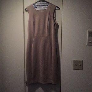 CalvinKlein size 8 ultrasuede beige dress, worn 1x
